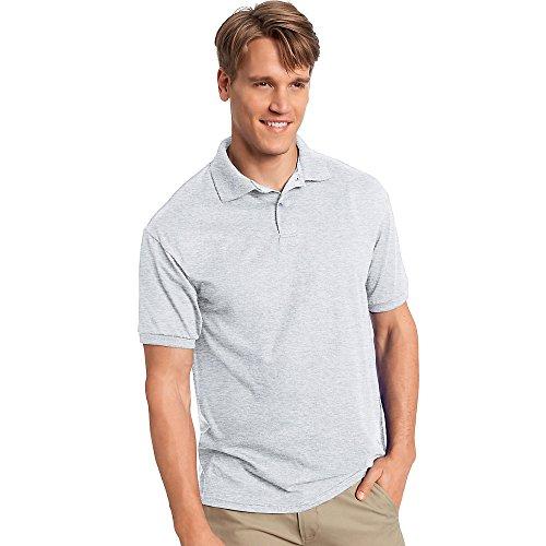 Hanes Cotton-Blend Jersey Men's Polo_Ash_3XL
