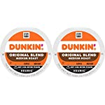 Dunkin' Best Sellers Coffee Variety Pack, 60 Keurig K-Cup Pods 19 Contains 4 boxes of 32 K-Cup pods (128 count total) Original Blend is the coffee that made Dunkin' famous, featuring a rich, smooth taste unmatched by others Medium roast coffee, specially blended and roasted to deliver the same great taste as the brewed Dunkin' coffee available in Dunkin' shops