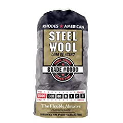 Steel wool super fine grade #0000 used in cleaning, polishing, buffing and refinishing Uniform, high quality metal strands with gentle abrasiveness Each bag has 16 steel wool pads Flexible to reach in and around corners Use to smooth wood, lacquer, v...