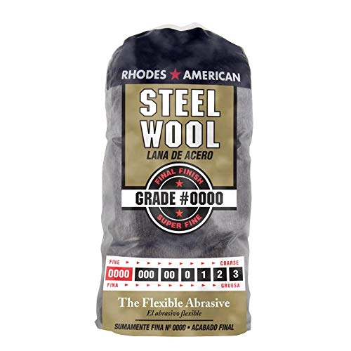 Homax 10120000 Steel Wool, 12 pad, Super Fine Grade #0000, Rhodes American, Final Finish