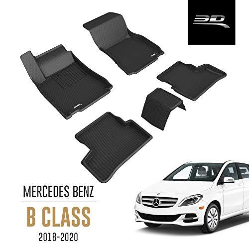 3D MAXpider Mercedes-Benz B Klasse W247 2018-2020 Passgenaue Allwetter Fußmatten Gummi Auto Matten Fussmatten Gummimatten, Kagu Serien (1. und 2. Reihe, Schwarz)