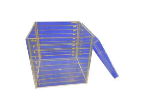 Ajax Scientific MO170-0001 Kunststoffwürfel mit Deckel, 10 ml Skala, 1 l, transparent