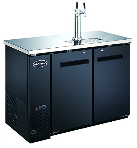 UDD-24-48 Black Kegerator / Beer Dispenser 1/2 Keg Capacity