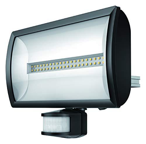 Theben 1020816 theLeda EC30 BK – LED-Strahler mit Bewegungsmelder, Flutlicht, Scheinwerfer, schwenkbar, 30 Watt, schwarz