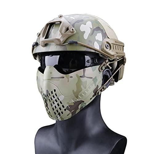 ZHOUSAN Máscara de Halloween Máscaras de Campo al Aire Libre Airsoft Paintball Máscara tractical Glory Knight Máscara Equipo de protección táctico 4
