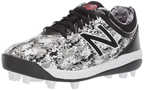 New Balance Kid's 4040 V5 Molded Baseball Shoe, Pedroia Camo Black, 6.5 W US Big Kid
