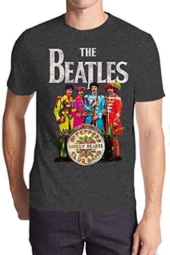 The Beatles SGT. Peppers Lonely Hearts Mens Charcoal Heather T-Shirt S