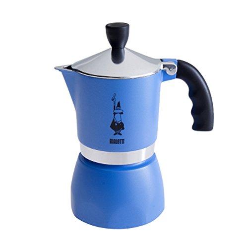 Bialetti - Fiammetta - Cafetière Italienne en Aluminium - 3 Tasses - Bleu