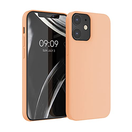 kwmobile TPU Silicone Case Compatible with Apple iPhone 12/12 Pro - Case Slim Protective Phone Cover with Soft Finish - Peach