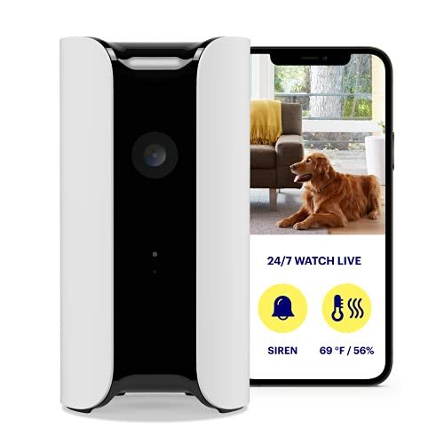 Canary Pro Indoor Home Security Camera with Premium Service (1 YR Free Incl.) | 90dB Siren, Climate Monitor, 2-Way Talk,30-Day Video History,Motion Detection,1080p HD,Alexa, Google, Baby Monitor