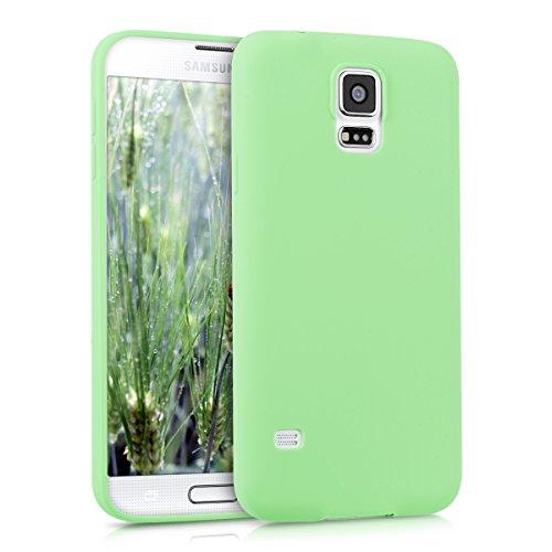 kwmobile Hülle kompatibel mit Samsung Galaxy S5 / S5 Neo - Handyhülle - Handy Case in Mintgrün matt