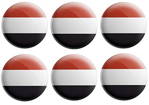 Anstecknadel mit Jemen-Flagge, Partytütenfüller, Veranstaltungen, Feiern, Sammler, Dekorationen, Sockenfüller (12 Stück)