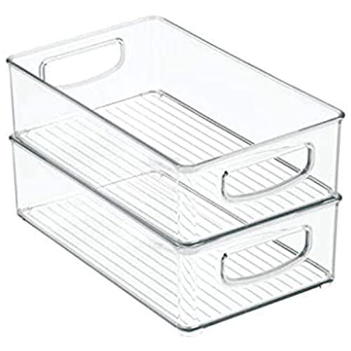 Pantry da cucina in plastica, armadietto, frigorifero cestino del bidone organizzatore di stoccaggio alimentare con manici-organizzatore for frutta Uibile per lo stoccaggio ( Color : Transparent )
