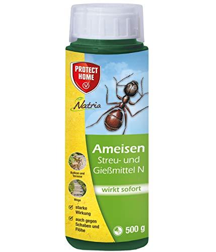 PROTECT HOME Natria Ameisen Gießmittel N mit Sofortwirkung, zum Streuen, Gießen und Spritzen, 500 g, Streudose