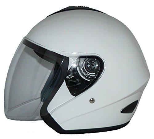 protectWEAR Jethelm V510 Motorradhelm mit Visier weiß glanz - XL