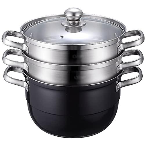 Pote de vapor/olla de sopa Hogar 304 Steamer de acero inoxidable más grueso 28 cm para la estufa de gas