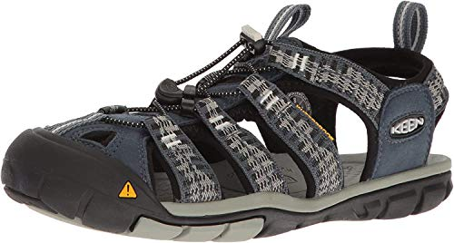 KEEN Men's Clearwater CNX Hiking Boot, Midnight Navy/Vapor, 11 M US