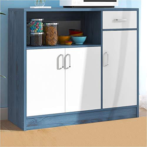 Hogar Aparador Moderno Simple Simplicidad té de Almacenamiento de Cocina Caja Armario de la Sala de Almacenamiento de los hogares multifunción Armario Gabinete 90X30X82cm (Color : Blue Pine)