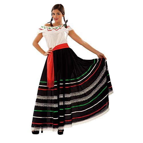 Desconocido My Other Me-201100 México Disfraz de mejicana para mujer, M-L (Viving Costumes 201100)