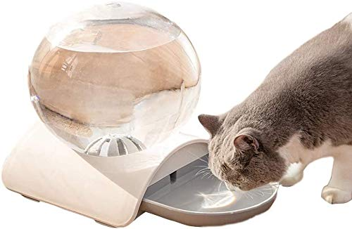 Tsdhjk Quality Bubble Pet Automatic Drinking Fountain, Designed for Your Pet, Automatic Water Renewal, High Capacity, Suitable for Cats, Dogs, Gray, 2.8L