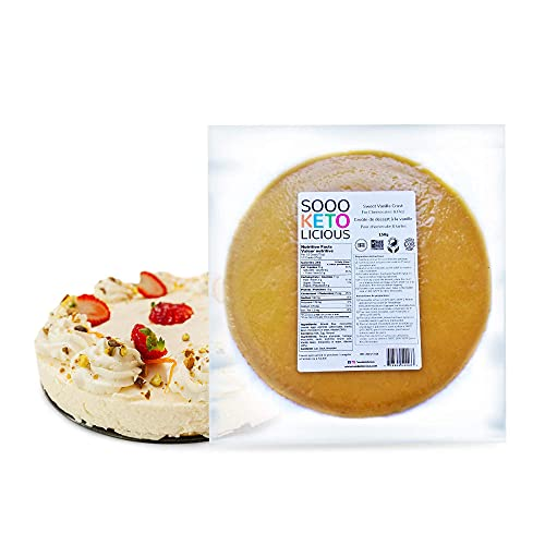Premium Keto Pie Crust, Low Carb Dessert Crust for Keto Diet, Frozen Pie Crust with No Additives or Artificial Flavors - Sooo Ketolicious