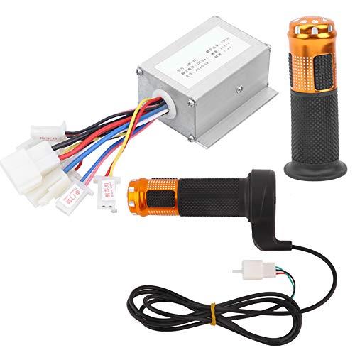 OKBYY Controlador - Controlador de Cepillo de 24V 250W con Kit de empuñadura del Acelerador Amarillo Accesorio para Scooter de Bicicleta eléctrica