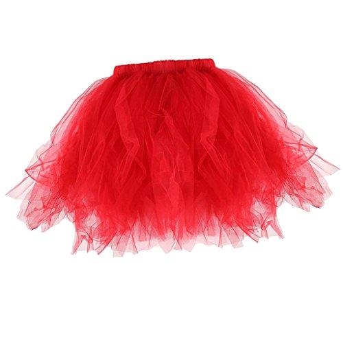 Hellery Mujeres Niñas Niños Princesa Ballet Tulle Tutu Boda Prom Mini Vestido...