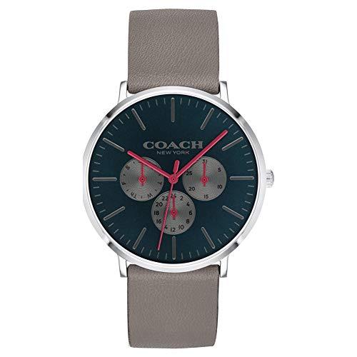 Coach | orologio da uomo varick | quadrante nero cinturino cronografo beige...