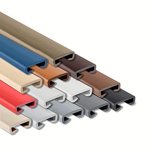 ProfiPVC Handlauf PVC Treppenhandlauf Geländer Kunststoffhandlauf Gummi 40x8mm (Anthrazit)