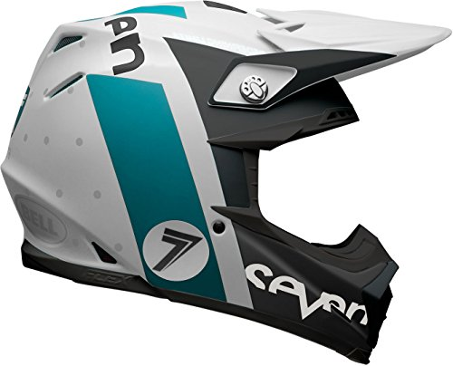 BELL Motocross-Helm Moto-9 Carbon Flex Blau Gr. XL