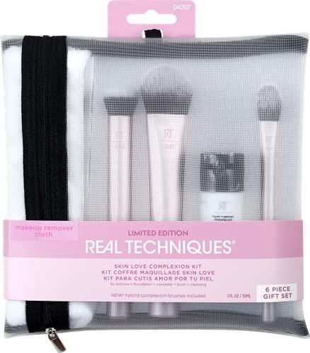 Real Techniques Skin Love Complexion Lot de 6 pinceaux de maquillage et de soins de la peau