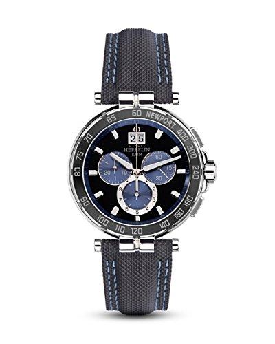 Michel Herbelin 36656/AN65 Herren-Uhr Newport Chronograph Analog mit Leder-Band