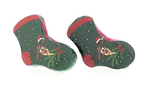 2er Set Magische Zauber Socken Motiv Rentier Didi Strümpfe Weihnachten Adventskalender Nikolaus Mitbringsel Geschenk-Idee (2er Set Magische Socken Rentier Didi)