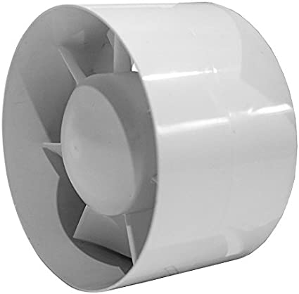 EK125T - Ventilador de tubo (125 mm de diámetro, con temporizador, IPX4)