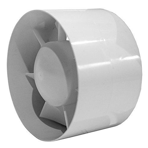 Tubo de Ventilador–con temporizador–Ventilador de tubo Ø 100125–150mm ekxxxt, Blanco