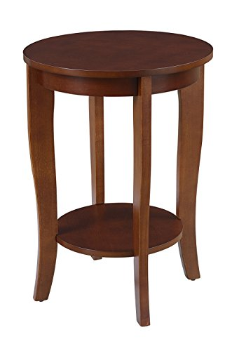 Convenience Concepts American Heritage Round End Table, Mahogany