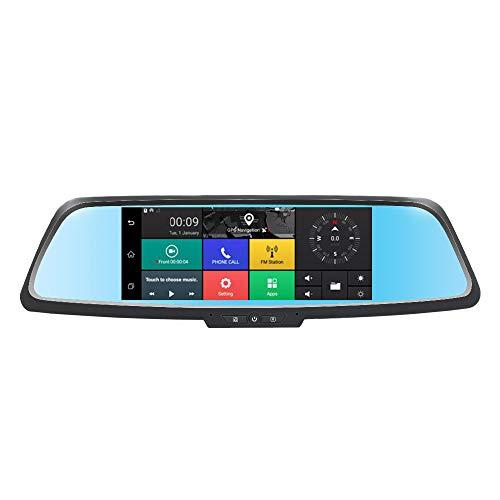 REDCVBN Camara De Coche Dash CAM,Camara Coche Grabadora,Sensor De Movimiento WiFi Y GPS Dashcam Grabadora Ultra HD con G-Sensor Monitor De Estacionamiento DeteccióN De Movimiento GrabacióN En Bucle