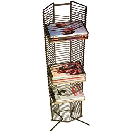 Atlantic Onyx 65 Wire DVD-Tower - Holds 65 DVDs, Blu-Rays or PS3 Games, Wall Mount or Freestanding in Matte Black Steel, PN 1332