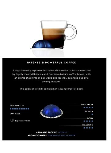 Nespresso Coffee Pods 10 Capsules 1 Sleeve VertuoLine Vertuo Line Single Serve Intenso/Double Espresso/Gran Lungo/Limited Edition ALL FLAVORS (10 Pods Diavolitto (Intense & Powerful))