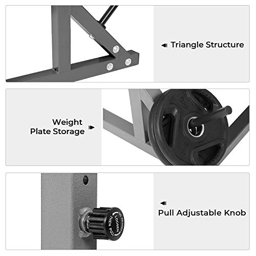 Kicode Adjustable Squat Rack Multi-Function Barbell Rack 550LBS Max Load, Home Gym Fitness Weight Lifting Bench Press Dipping Station
