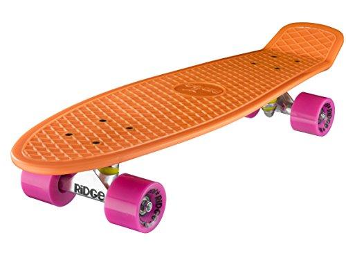 Ridge Mini Cruiser Skate 69cm 27Skateboard MONOPATIN Board 68,6 x 19 cm Orange/Rosa