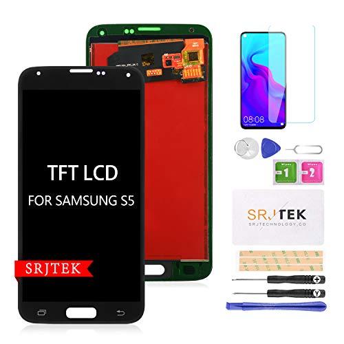 Per Samsung Galaxy S5 G900 Schermo di Ricambio TFT LCD Schermo per Samsung Galaxy S5 2015 G900 G900MD G900A Display Touch Digitizer Assemblea Vetro (non AMOLED)