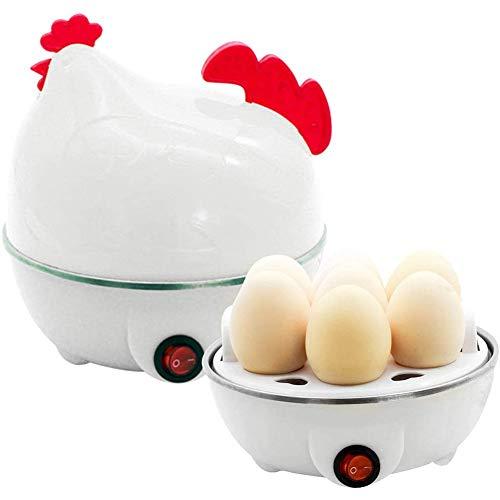 Eierkoker voor huishoudelijk gebruik, Chick Cartridge Egg Boiler, Electric Easy Egg Boiler, Single Layer 7 Egg Capacity, voor hardgekookte eieren, met oververhittingsbeveiliging