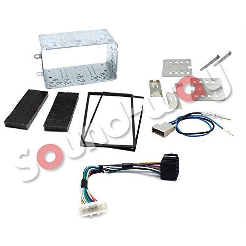 Sound-way 2 DIN Radiopaneel Frame Autoradio, Antenne Adapter, ISO Aansluitkabel, Metalen Dashboard ondersteuning voor Nissan Qashqai 2007-2013