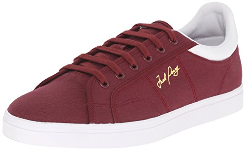 Fred Perry Men's Sidespin Canvas Fashion Sneaker, Port/White, 7 UK/8 M US