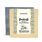 puremetics Zero Waste peelende Dusch-Seife'Olive Mohn' | 100% natürlich, vegan & plastikfrei |...