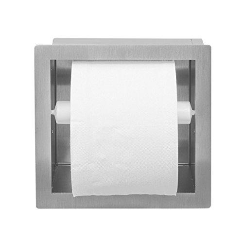 ESS Easy Drain Container WC Rollenbehalter SQUARE Edelstahl gebürstet