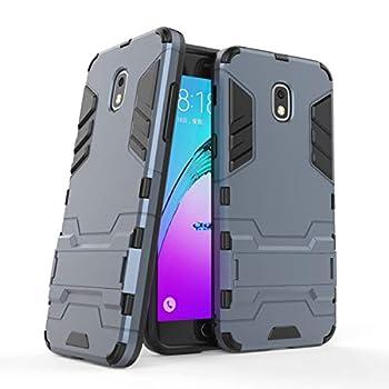 Cocomii Iron Man Armor Galaxy J3 2018/J3 V/J3 Achieve/J3 Star/Express Prime 3/Amp Prime 3 Case Slim Matte Vertical Horizontal Kickstand Bumper Cover Compatible with Galaxy J3 2018/J3 V  Black