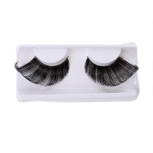 harayaa 1 Par de Pestaas para Disfraz de Fiesta de Baile Maquillaje de Ojos de Halloween Belleza - Negro