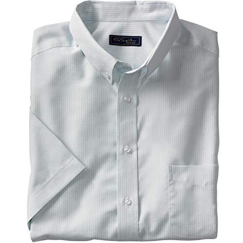 HAGGAR Men's Premium No Iron Classic Fit Expandable Waist Pleat Front Pant, Toast, 42x32